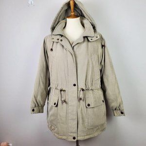 Bromley Sport Real Down Olive Hooded Heavy Jacket